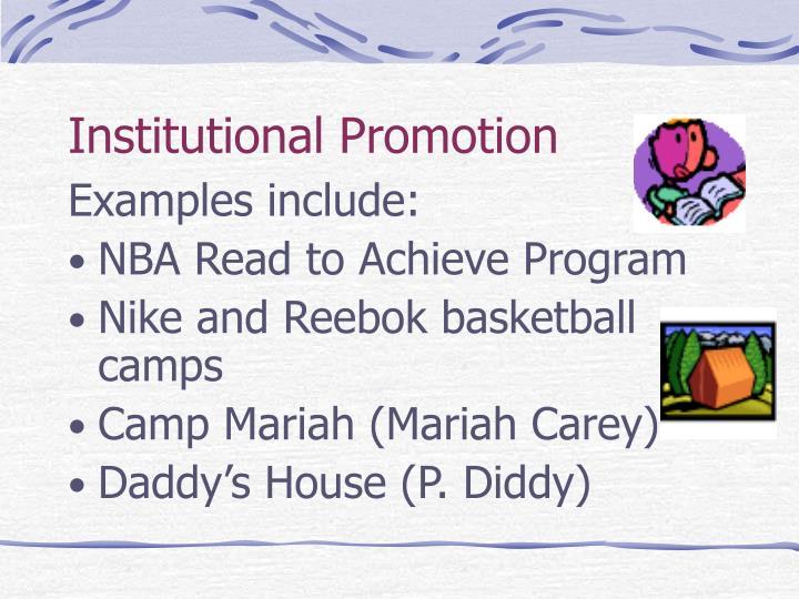 Institutional Promotion