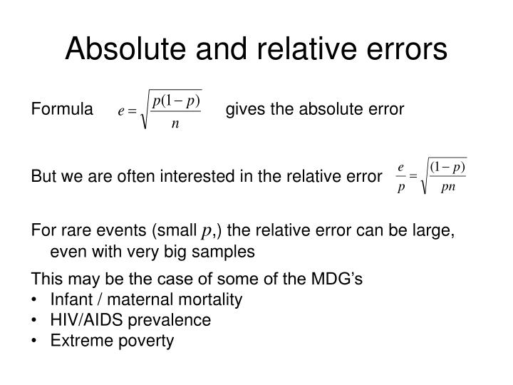 Absolute and relative errors