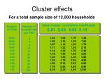cluster effects