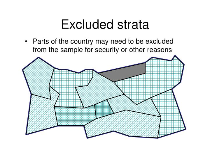 Excluded strata