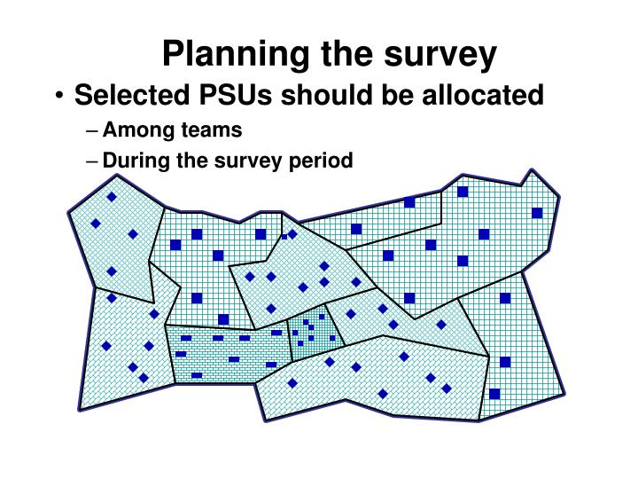 Planning the survey