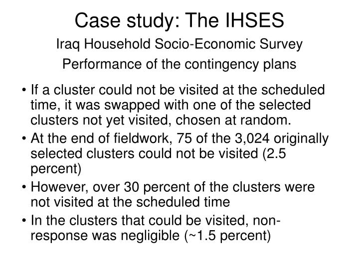 Case study: The IHSES