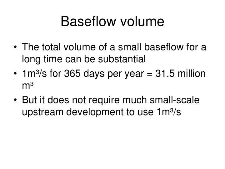 Baseflow volume