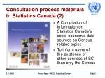 consultation process materials in statistics canada 2