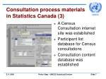 consultation process materials in statistics canada 3