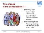 two phases in the consultation 1