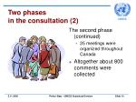 two phases in the consultation 2