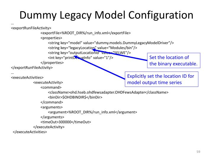 Dummy Legacy Model Configuration
