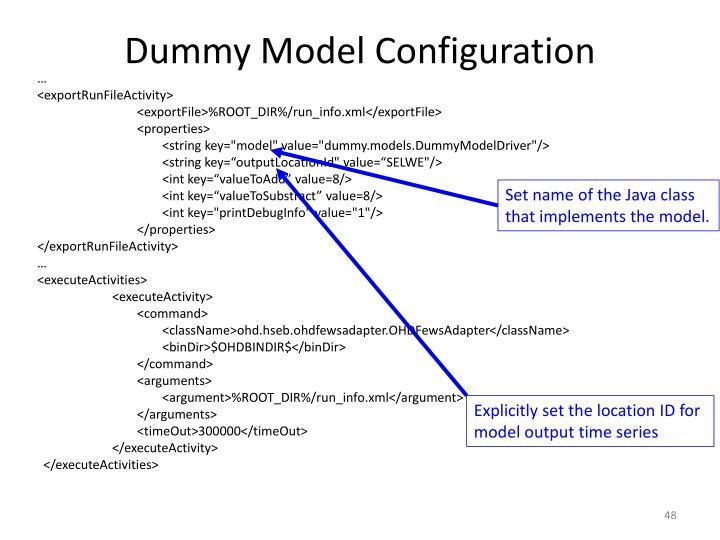 Dummy Model Configuration