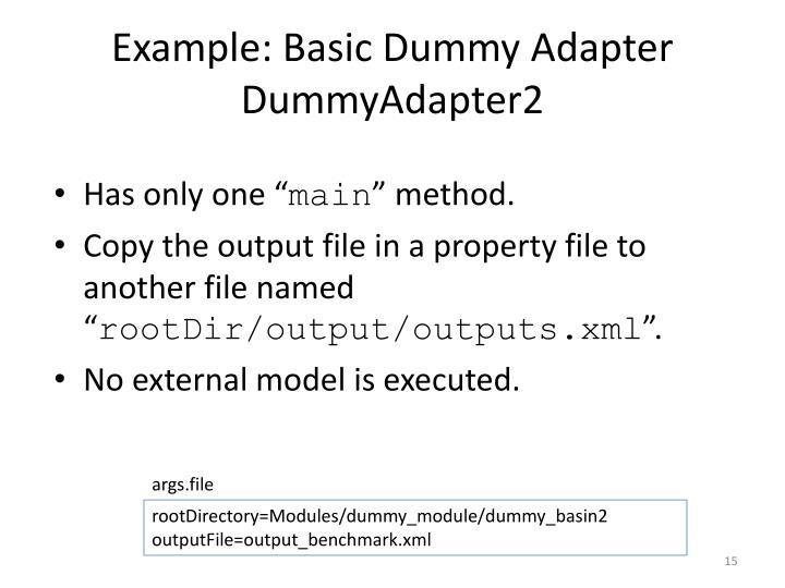 Example: Basic Dummy