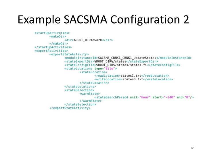 Example SACSMA Configuration 2