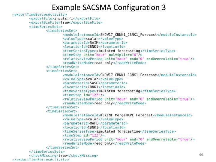Example SACSMA Configuration 3