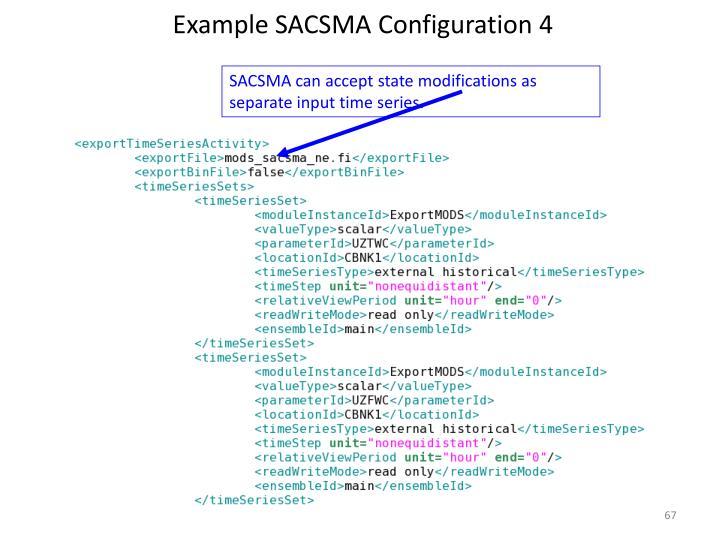 Example SACSMA Configuration 4