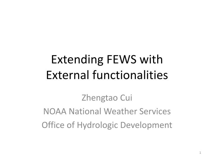 Extending FEWS with