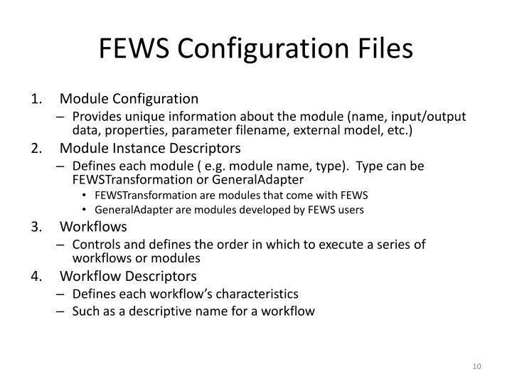 FEWS Configuration Files