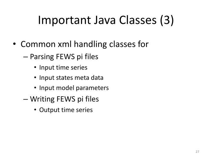 Important Java Classes