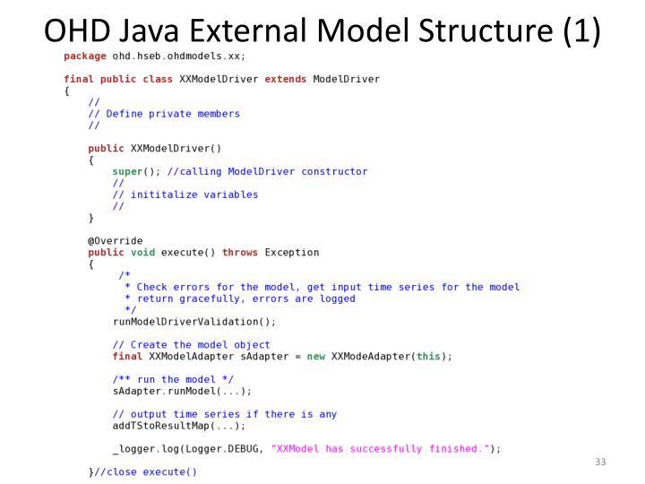 OHD Java External Model Structure (1)