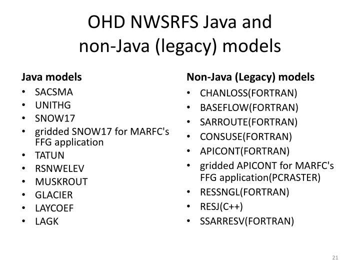OHD NWSRFS Java and
