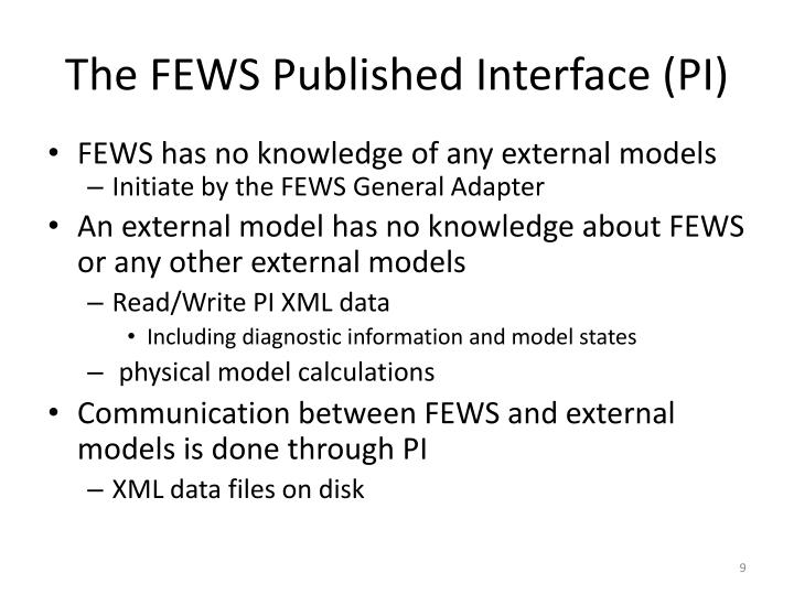 The FEWS Published Interface (PI)
