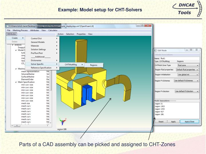 Example: Model setup for CHT-Solvers