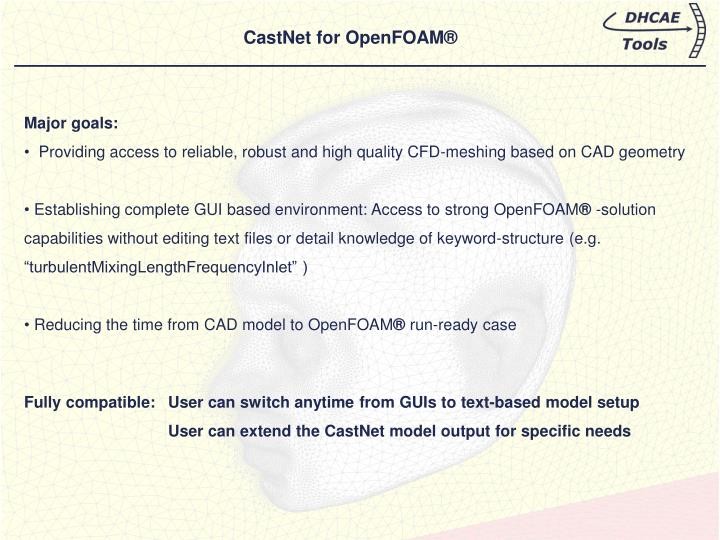 CastNet for OpenFOAM®