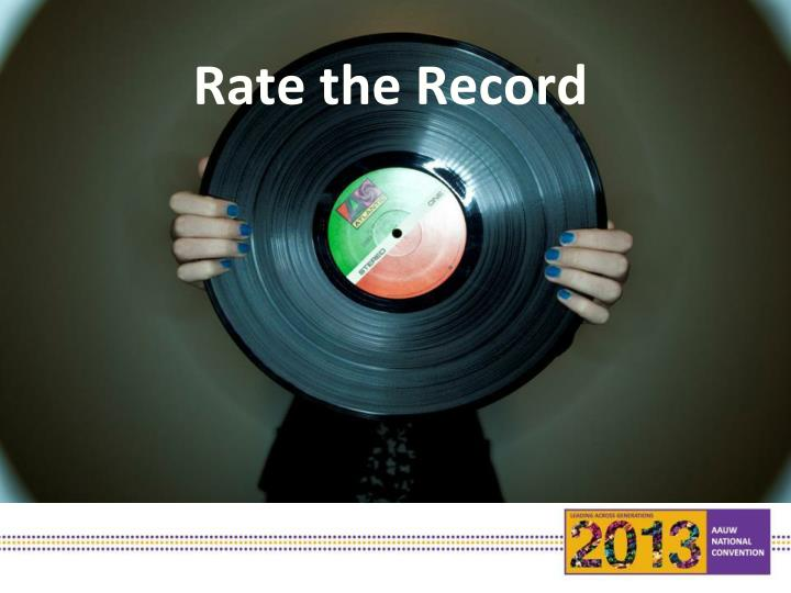 Rate the Record