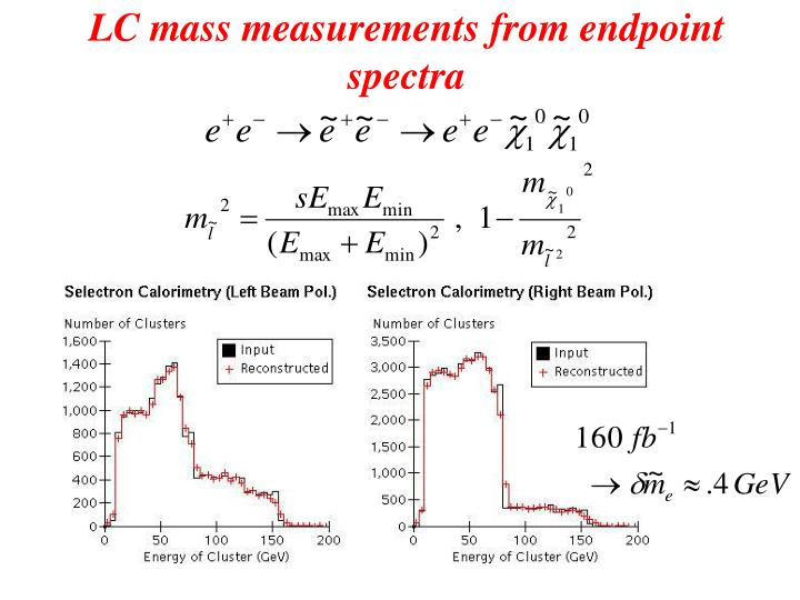 LC mass measurements from endpoint spectra