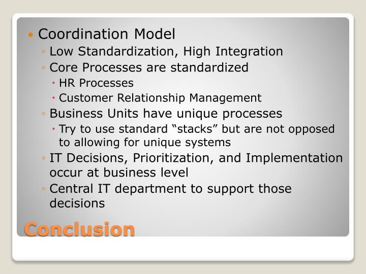 Coordination Model