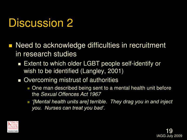 Discussion 2
