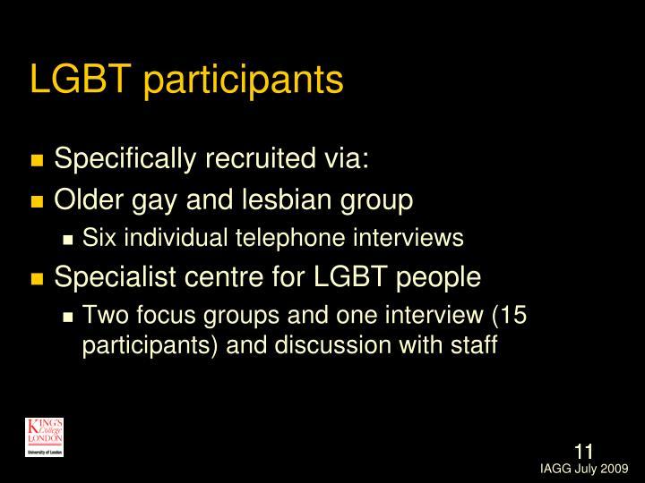 LGBT participants