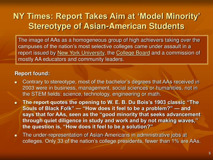 NY Times: Report Takes Aim at 'Model Minority' Stereotype of Asian-American Students