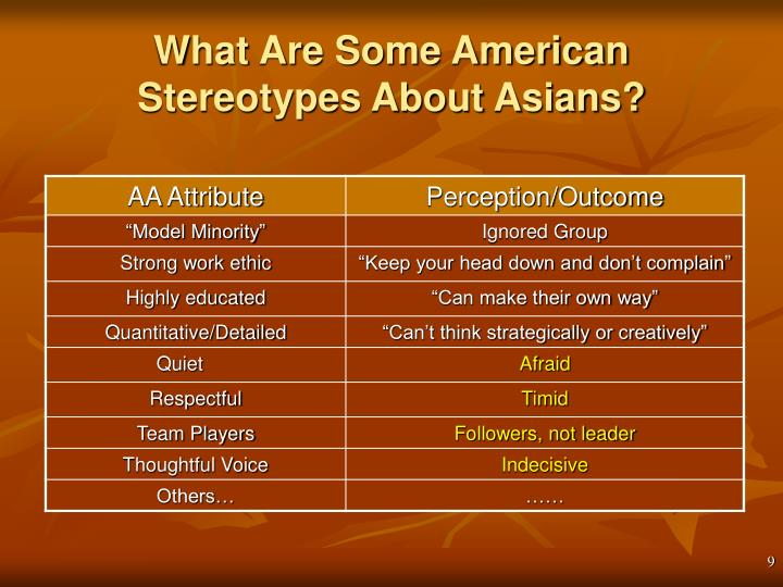 What Are Some American Stereotypes About Asians?