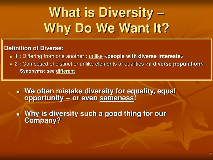 What is Diversity –