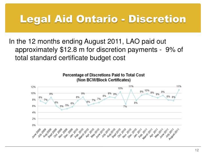Legal Aid Ontario - Discretion