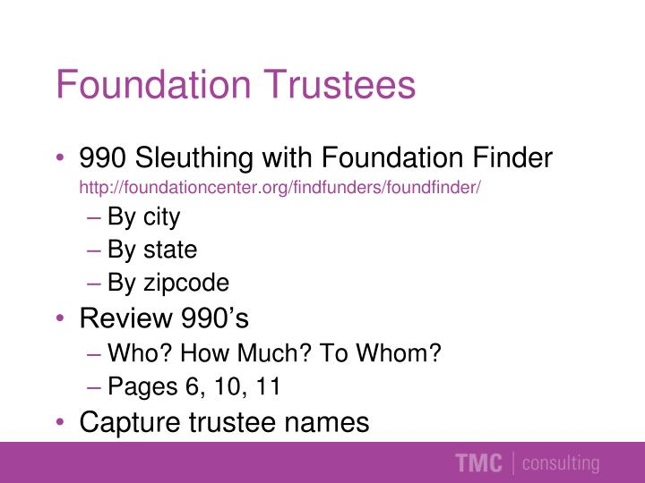 Foundation Trustees