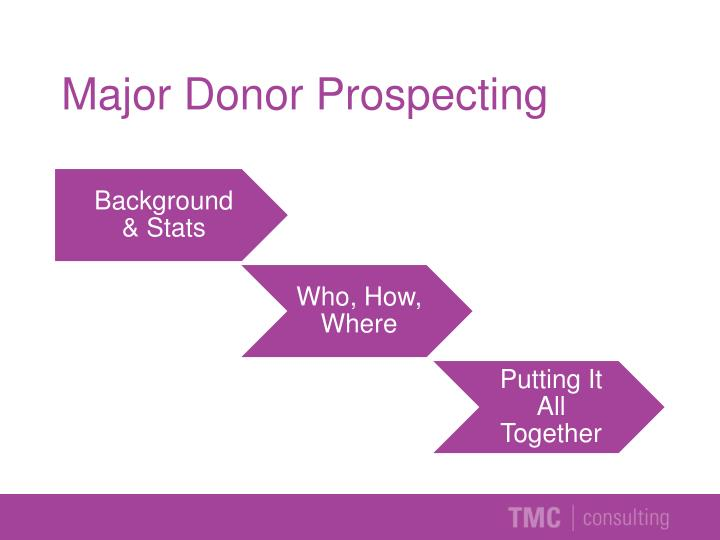 Major Donor Prospecting