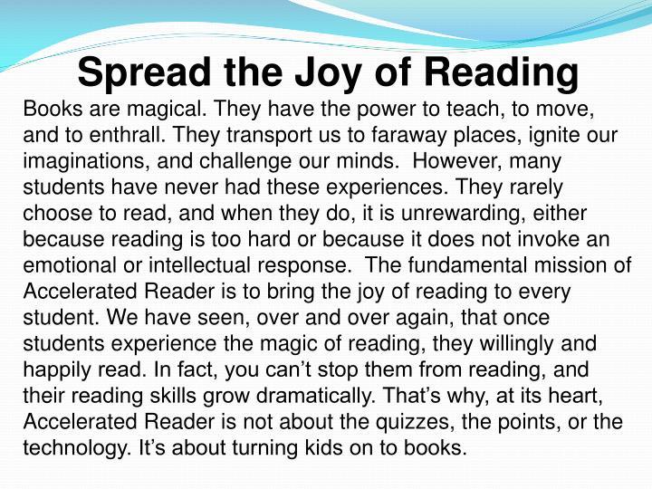 Spread the Joy of Reading