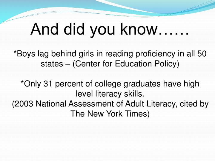 And did you know……