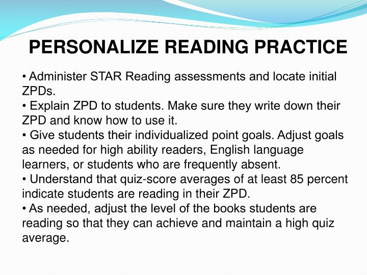 PERSONALIZE READING PRACTICE