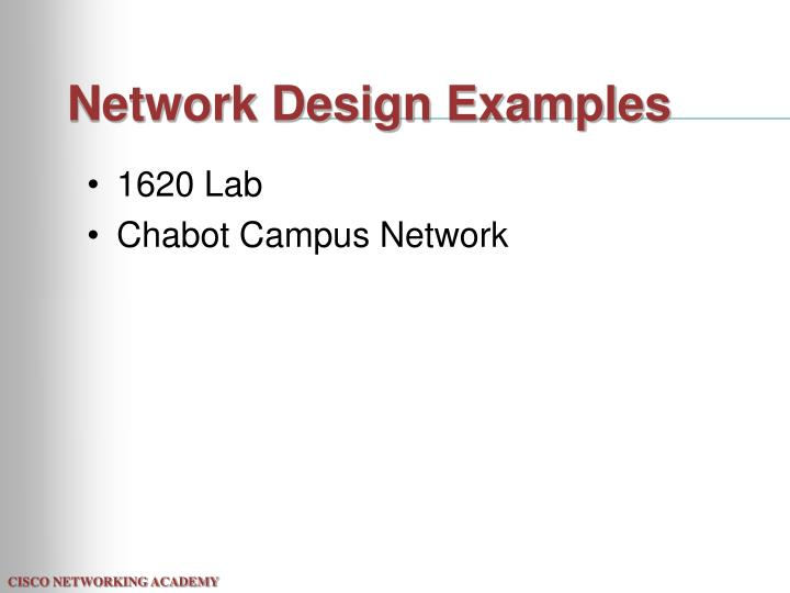 Network Design Examples