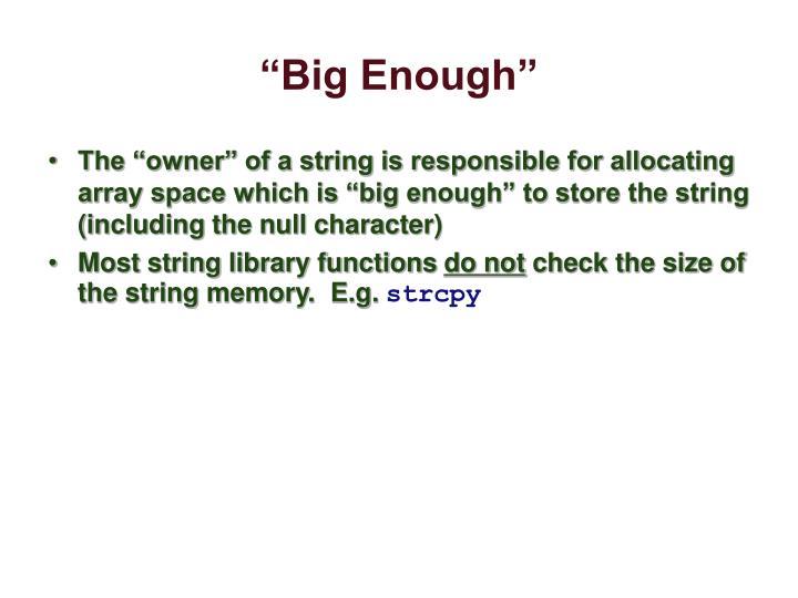 """""""Big Enough"""""""