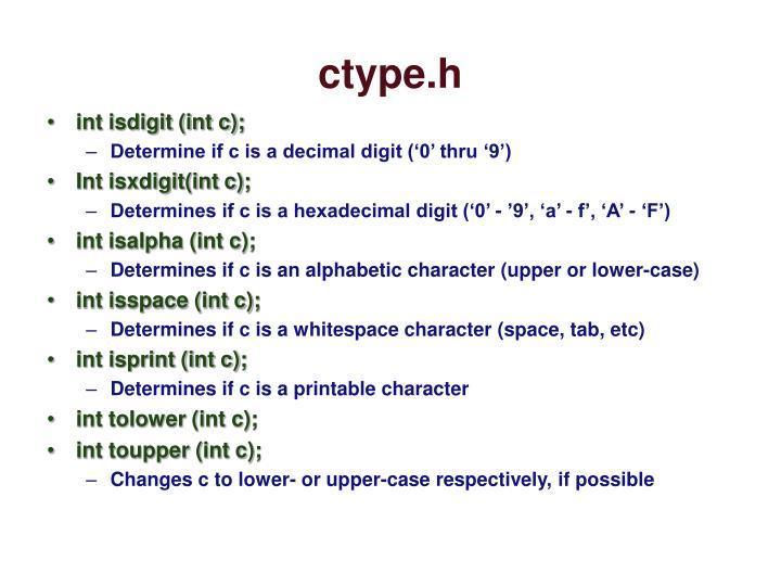 ctype.h