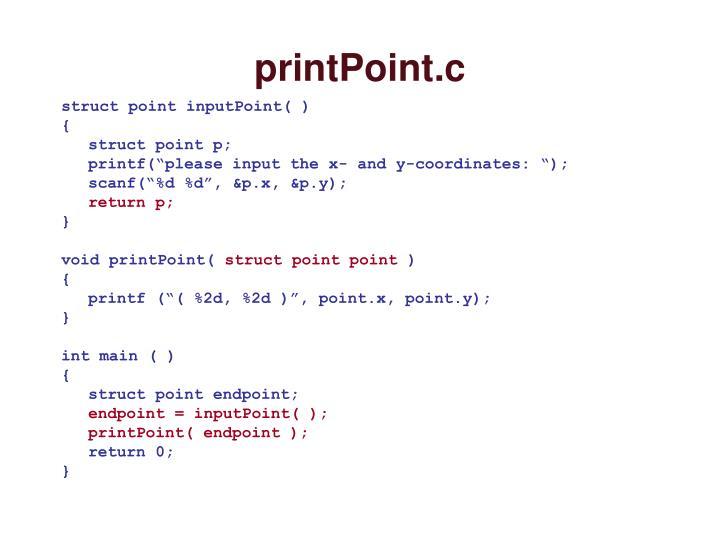 printPoint.c