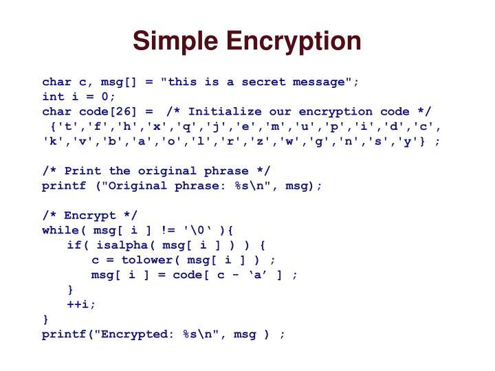Simple Encryption
