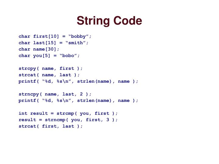 String Code