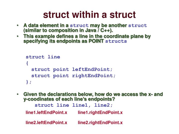 struct within a struct