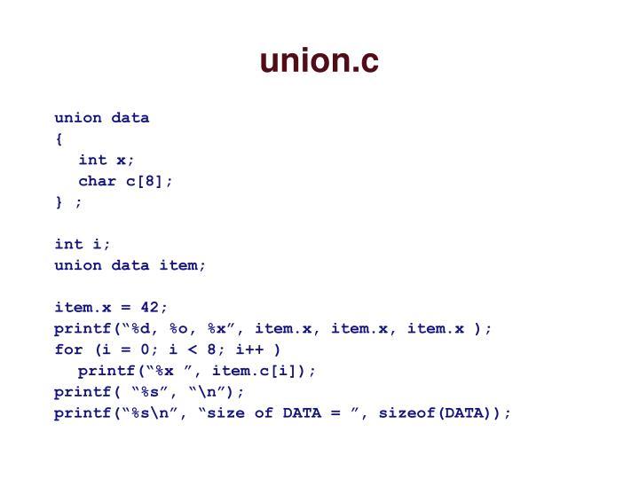 union.c