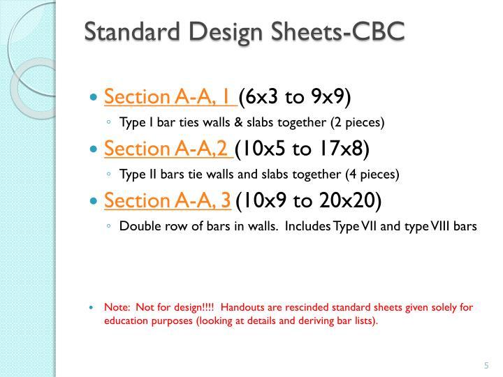 Standard Design Sheets-CBC