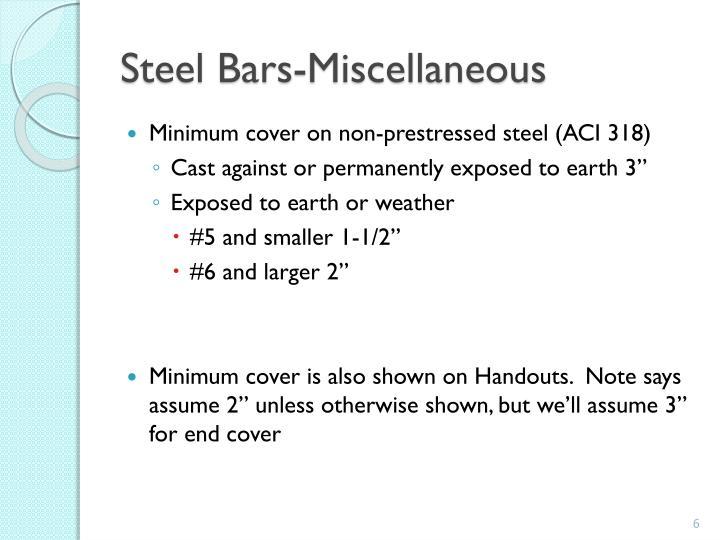 Steel Bars-Miscellaneous