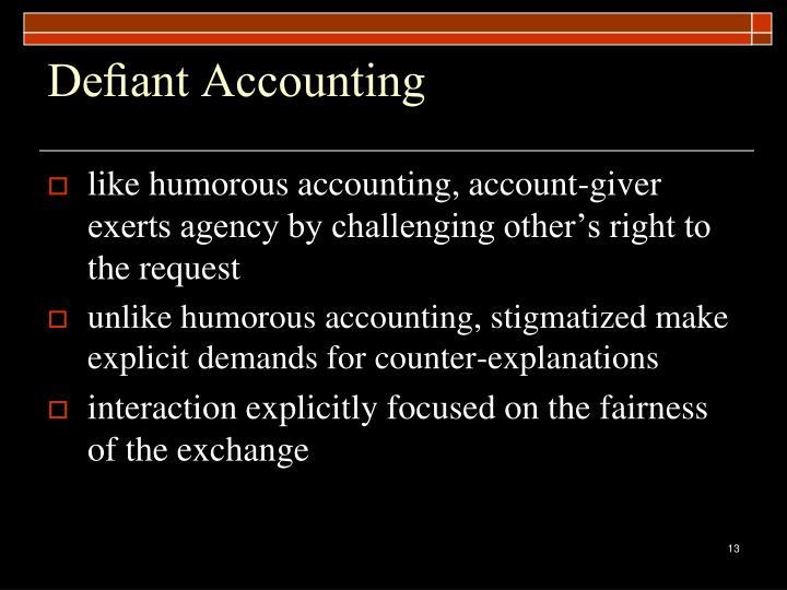 Defiant Accounting